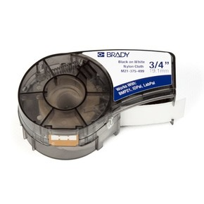 Лента Brady m21-375-499, черная на белом, 9.53x4870 мм, Нейлон