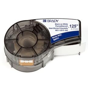 Трубка термоусадочная Brady m21-125-c-342,мм, черная на белом, 2.8, 6x2100 мм