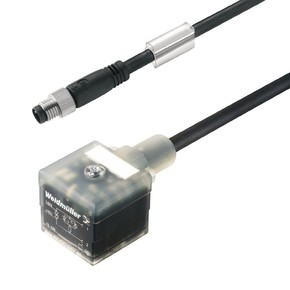 Клапанный штекер вилка прямая A SIL/VS/M8G/3/2.5U