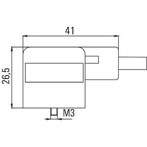Клапанный штекер разъем с открытым концом кабеля SAIL/VSA/20U(0.5)