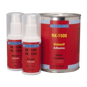 Weicon RK-1500 - Клей двухкомпонентный конструкционный rk 1500, Желтоватый прозрачный, цвет активатора бесцветный прозрачный, 1кг.