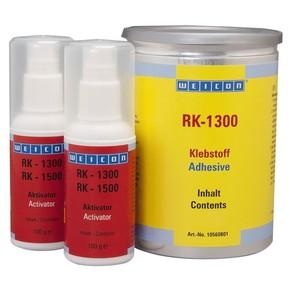 Weicon RK 1300 - Клей двухкомпонентный конструкционный rk 1300, Бежевый, не прозрачный, цвет активатора - бежевый прозрачный, 1кг.