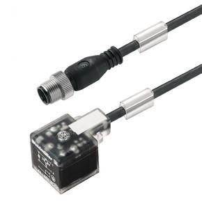 Клапанный штекер вилка прямая SAIL/VSA/M12G/0.3U
