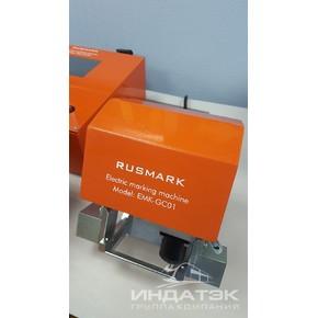 Портативный электрический ударно-точечный маркиратор RUSMARK EMK-GC01, LCD экран, TX7, окно 80*40мм,