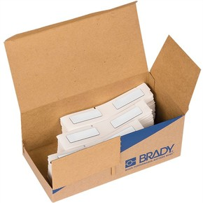 Этикетки для печати на принтере для BMP61,m611 Brady m61ep-08-7593-wt eprep только для bmp61,m611, белые, 19x48 мм, 300 шт