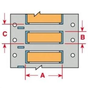 Маркер термоусадочный Brady 3ps-250-2-or-s-4, 12.7x11.15 мм, 2000 шт