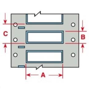 Маркер термоусадочный Brady 3ps-187-2-wt-s, 12.7x8.5 мм, 4 2000 шт
