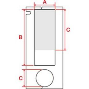 Этикетки Brady M71-116-461 / 15,24x41,28мм, B-461