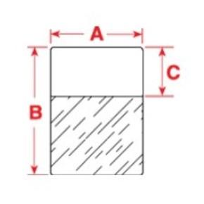 Этикетки Brady этикетка xsl-29-427, 12.7x38.1 мм, 450 шт