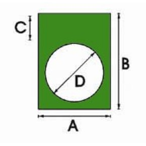 Этикетки Brady THTEP-05-7593-GR / 30x40мм, B-7593