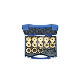 """Комплект в пластиковом кейсе Klauke D22SET: 13 матриц серии """"22"""" для трубчатых медных DIN наконечников 6–300 мм²"""