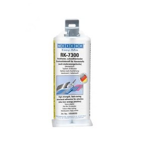 Weicon RK-7300  - wcn10569050 - Easy-Mix RK-7300 (50 мл) Двухкомпонентный конструкционный клей. Высокопрочный., Бесцветный мутный, 50мл.