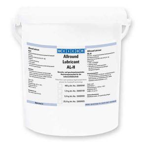 Weicon AL-H - Смазка высокотемпературная для пищевого оборудования жировая al-h 5000, Желтовато - белый, 5кг.