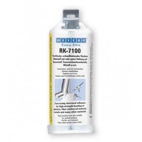 Weicon Easy-Mix RK-7100 - Клей двухкомпонентный конструкционный rk-7100, высокая вязкость, Кремово-белый, молочный, 400мл.