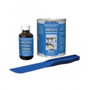 Weicon GMK 2510 - Клей двухкомпонентный для склеивания резины с металлом gmk 2510, Черный / прозрачный, 690г.