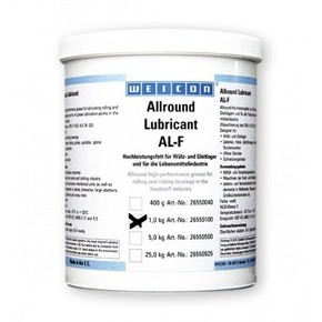 Weicon AL-F - Смазка жировая для пищевого оборудования al-f 1000, Белый, 1кг.