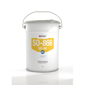 Масло синтетическое с пищевым допуском h1 Efele so-866 vg-68 (efl0092744)