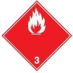"Знак маркировки грузов Brady ADR 4.1- ""Легковоспламеняющееся вещество"", B-7541 самоклеющийся винил, сторона 100 мм, 250 шт. в рулоне"