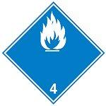 """Знак маркировки грузов Brady ADR 6.1- """"Токсичное вещество"""", B-7541 самоклеющийся винил, сторона 100 мм, 250 шт. в рулоне"""
