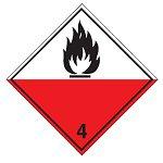 """Знак маркировки грузов Brady ADR 1.4 """"Категория опасности 1.4"""", B-0859 магнитный материал, сторона 297 мм, 1 шт."""