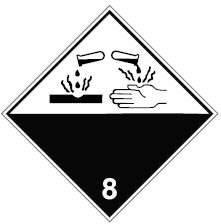 """Знак маркировки грузов Brady ADR 1.6 """"Категория опасности 1.6"""", B-0859 магнитный материал, сторона 297 мм, 1 шт."""