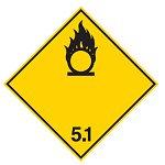 """Знак маркировки грузов Brady ADR 2.2A """"Негорючий, нетоксичный газ"""", B-0859 магнитный материал, сторона 297 мм, 1 шт."""