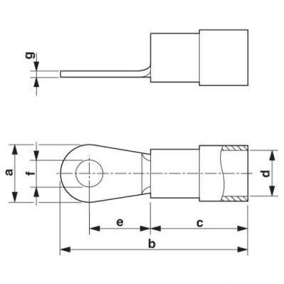 Круглый кабельный наконечник C-RCI 6/M6