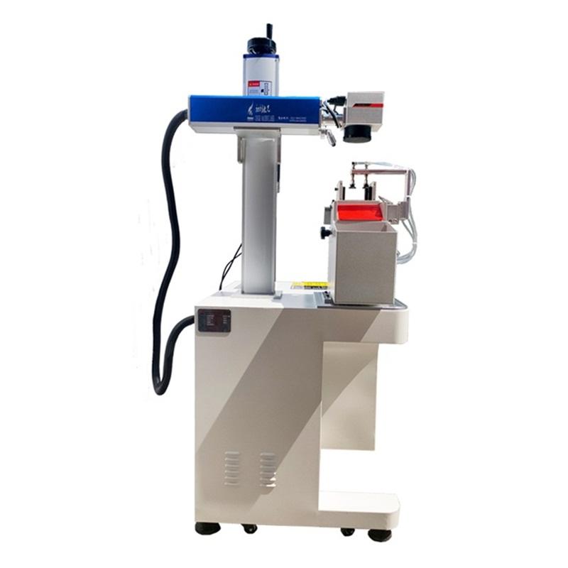 Лазерный маркиратор Rusmark FLMM-A01 20Вт, окно 110*110мм, с раб.столом и ПК, с автоматическим пневматическим податчиком бирок (табличек)