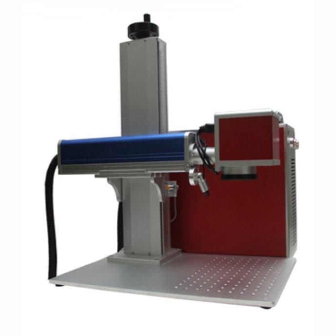 Лазерный маркиратор Rusmark FLMM-B01 20Вт, окно 110*110мм, с автоматическим пневматическим податчиком бирок (табличек)