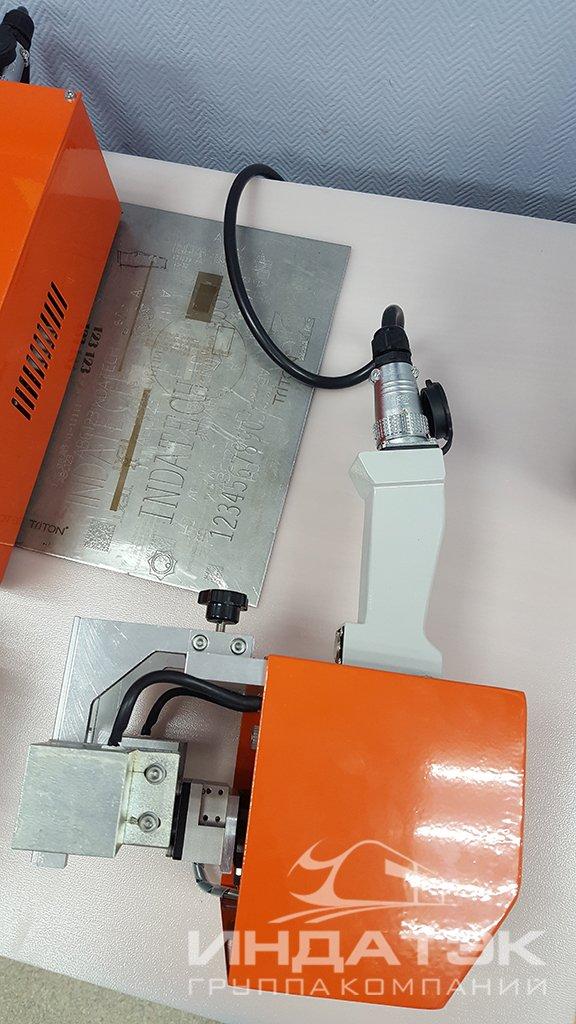 Портативный пневматический ударно-точечный маркиратор RUSMARK PMK-EC01, без экрана, Kingmark, окно 80*40мм, с магнитами