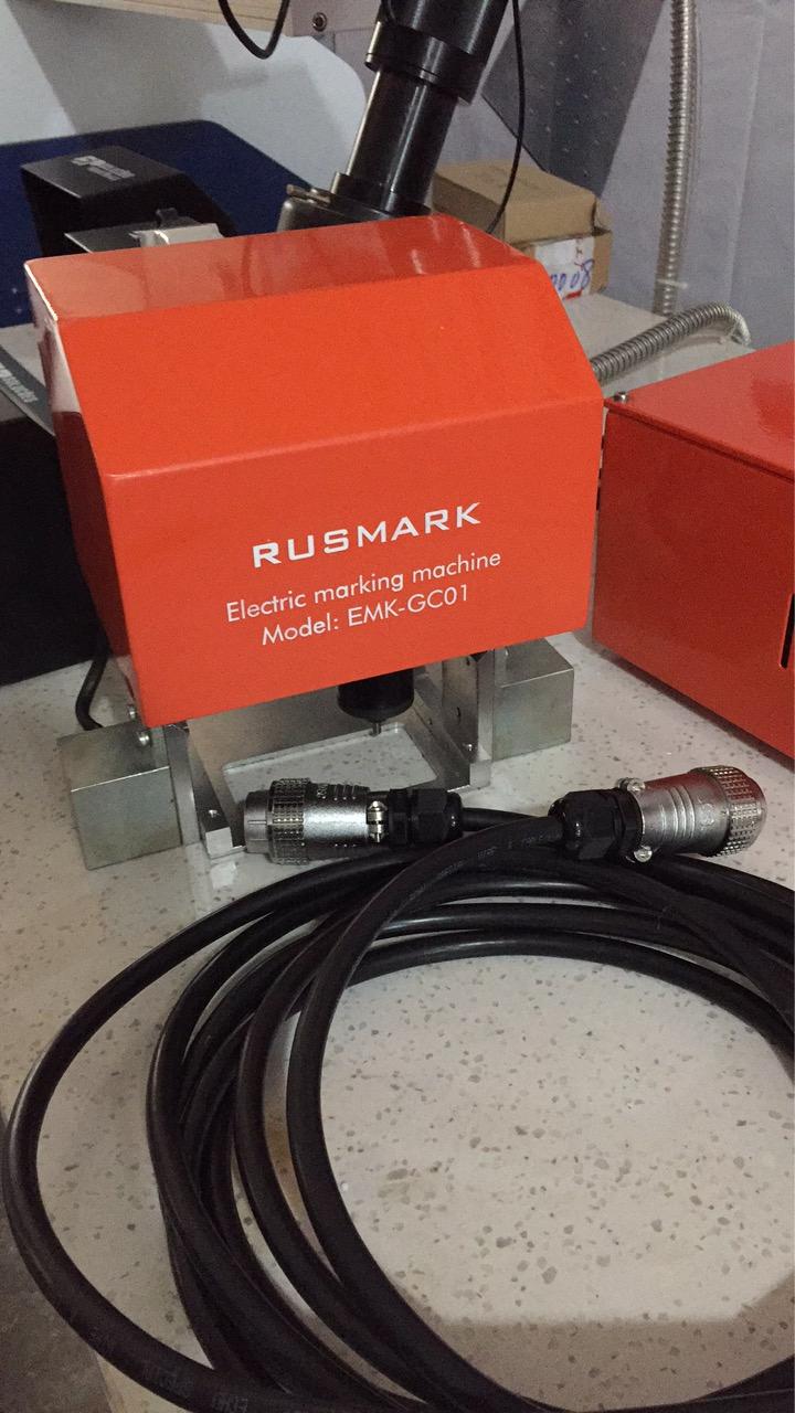 Портативный пневматический ударно-точечный маркиратор RUSMARK PMK-GC01, LCD экран, ПО Kingmark, окно 80*40мм, с магнитами